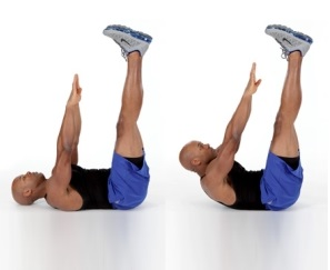 Toe Touch Crunch Exercise