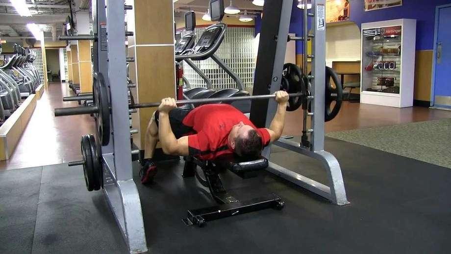 Smith Machine Bench Press Bodybuilding Wizard