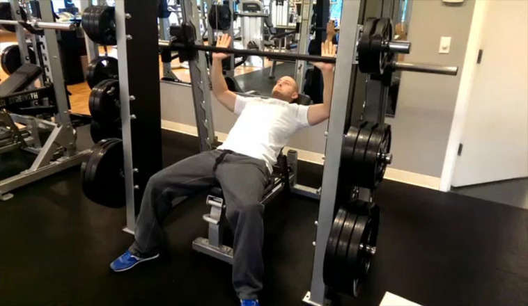 Smith Machine Incline Press Bodybuilding Wizard