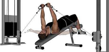 Decline Bench Cable Fly - Lower Chest Exercise