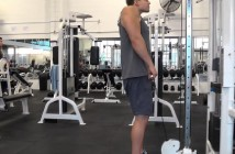 bodybuilding exercise: cable shrugs