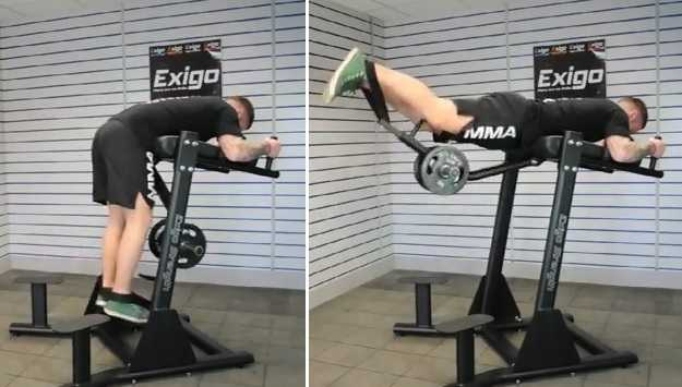 hyperextension machine