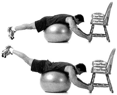 Swiss-Ball Reverse Back Hyperextension