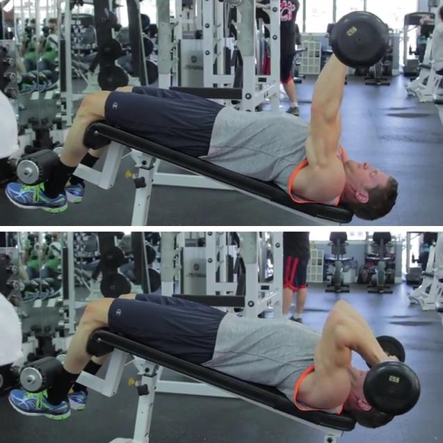 Decline E-Z bar triceps extension