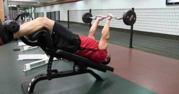 Decline E-Z bar triceps extension