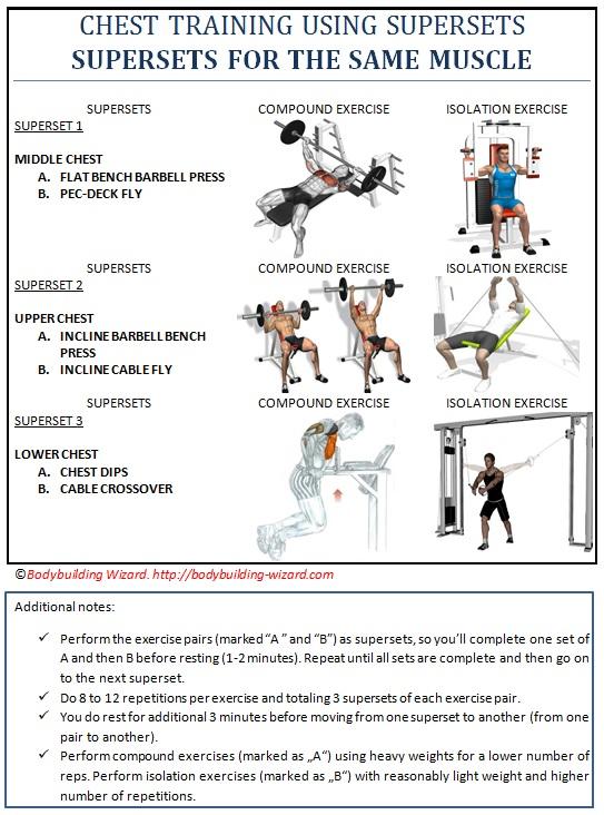 تجريب الصدر مع supersets - supersets لنفس العضلات
