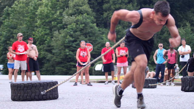 Tire workout: tire dragging