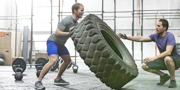 Tire workout: tire flipping
