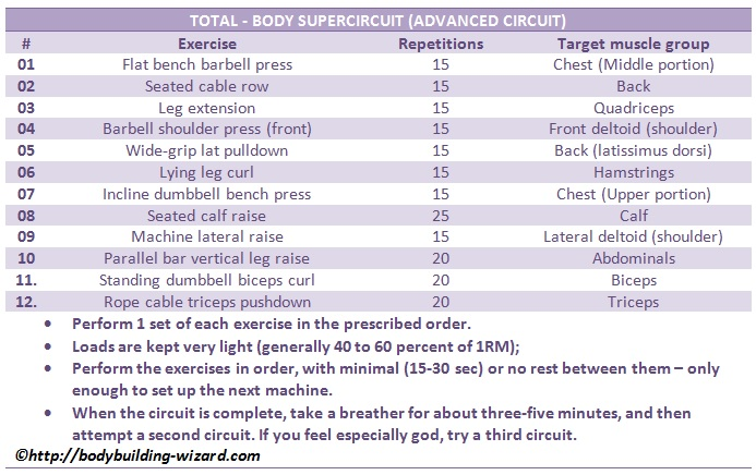 circuit training workout program