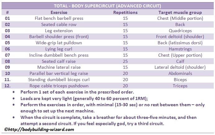 circuit training workout program