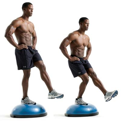 BOSU exercise equipment