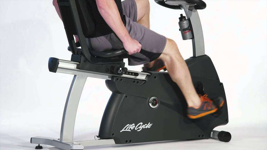 cardio workout on recumbent bike