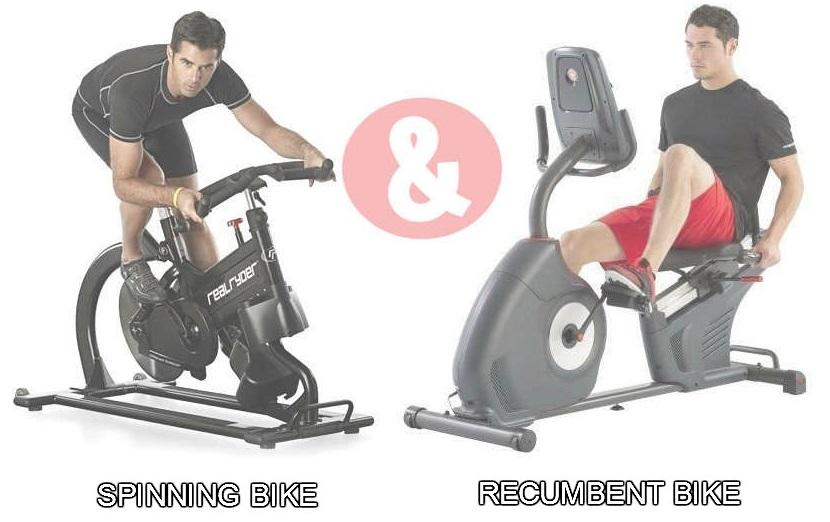 Types of stationary bikes: spinning bike & recumbent bike