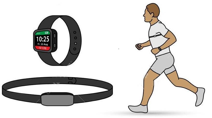 chest-strap heart rate monitor