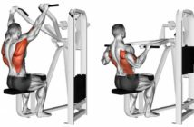 machine lat pulldown exercise