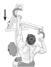 one-arm machine lat pulldown exercise