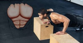 deep push ups - elevated feet