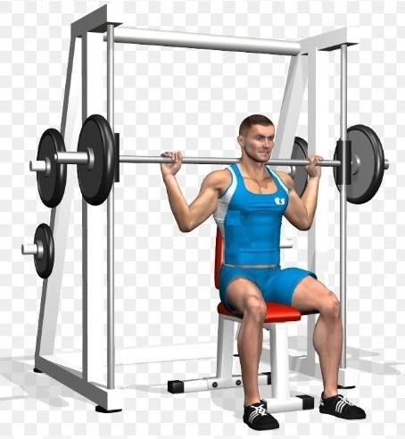 Smith machine behind the neck shoulder press