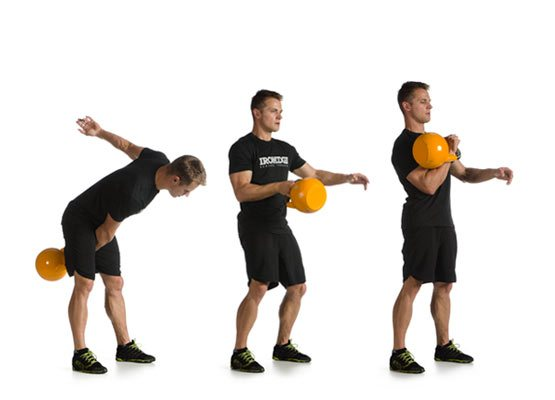 one-arm kettlebell clean exercise instructions