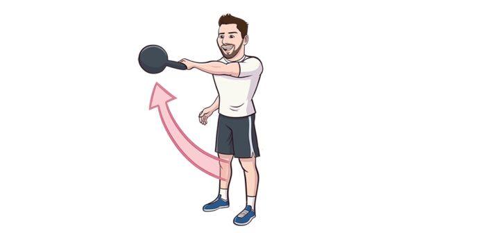 single-arm kettlebell swing exercise instructions