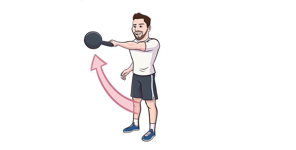 Single Arm Kettlebell Swing Exercise Guide Bodybuilding
