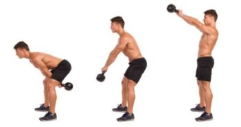 two arm kettlebell swing
