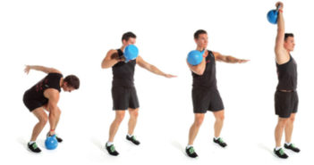 kettlebell cleand & press tutorial