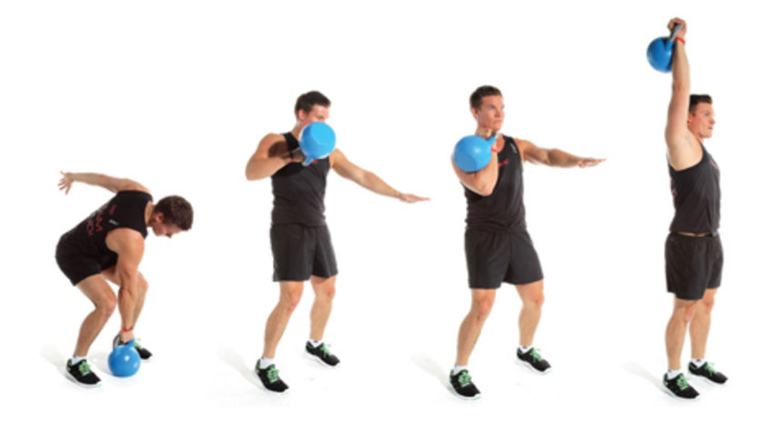 Kettlebell Clean and Press Exercise • Bodybuilding Wizard