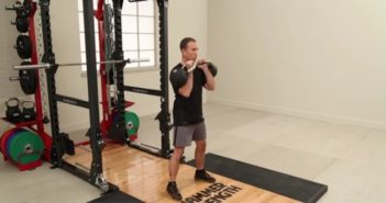 Double kettlebell clean exercise