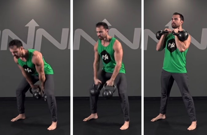 two-arm kettlebell clean exercise instructions