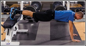Feet elevated straight-arm plank