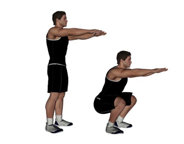 Basic Bodyweight Squat Exercise