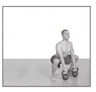 double kettlebell sumo squat