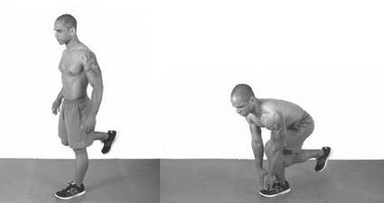 single-leg squat exercise