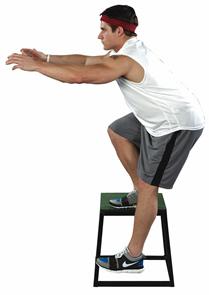 Single-leg squat on a sturdy box