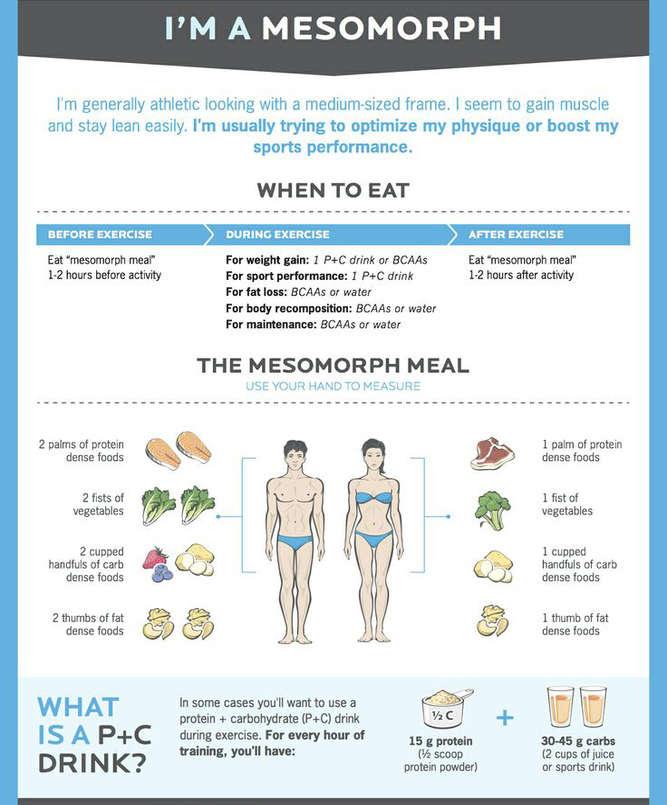 mesomorph diet tips
