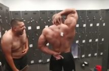 Bodybuilder Can't Reach Sticker on His Back