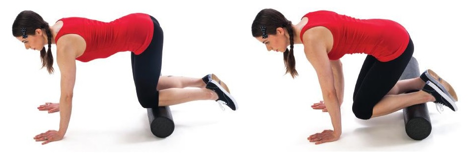 shins foam rolling exercise