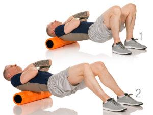mid back foam roliing exercise