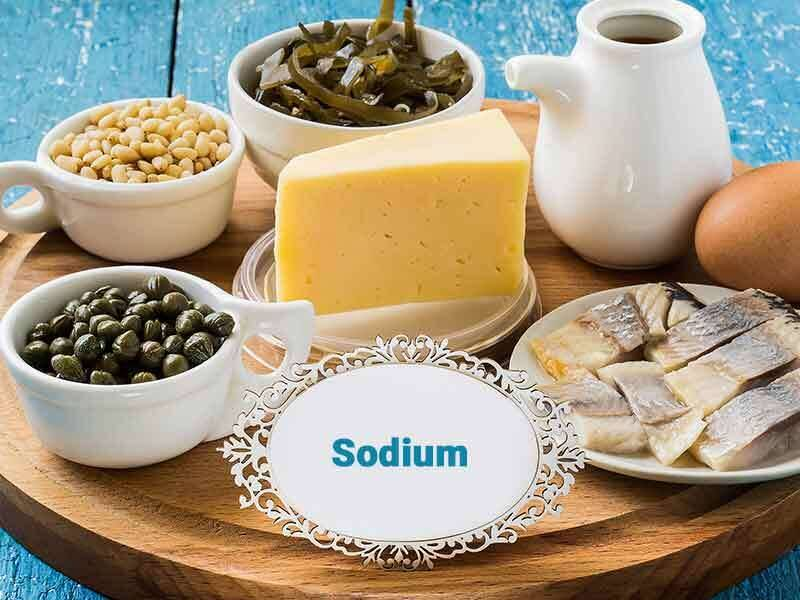 Lack of sodium - muscle cramps