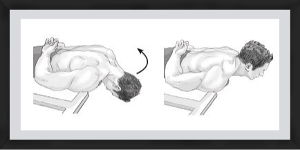 lying neck extension exercise