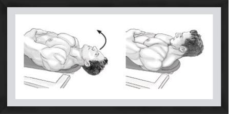lying neck flexion exercise