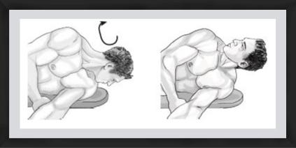lying neck rotation