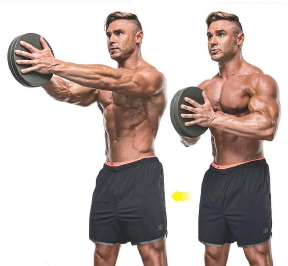 Sven press exercise for the chest