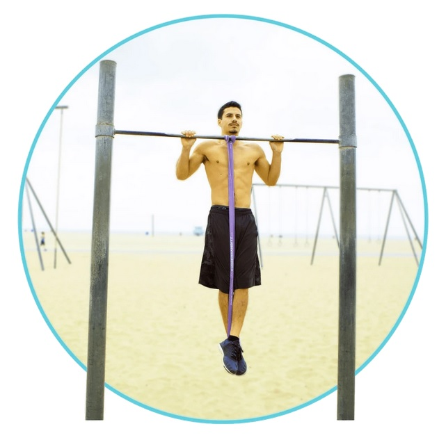 pull-ups with resistance tubing