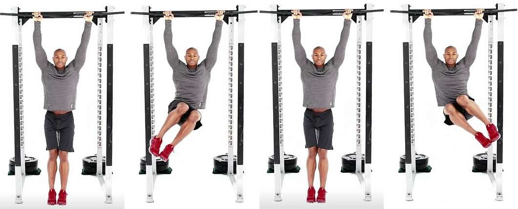 hanging knees up obliques