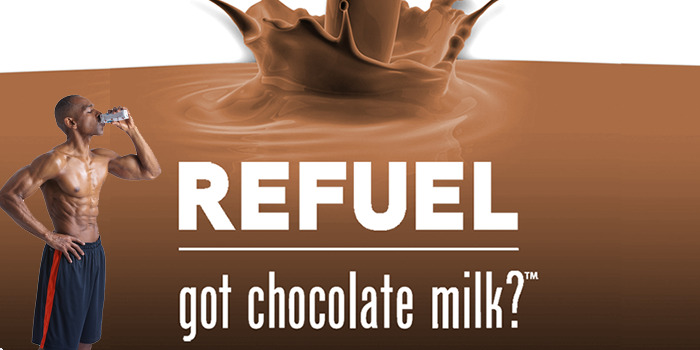 chocolate milk refuel after workout