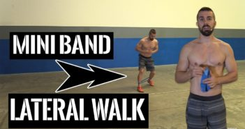 mini band lateral walk exercise