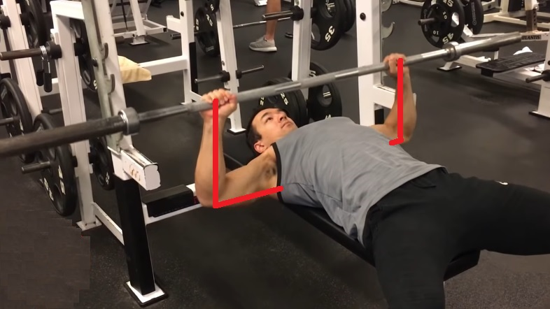 flaring elbows out bench press