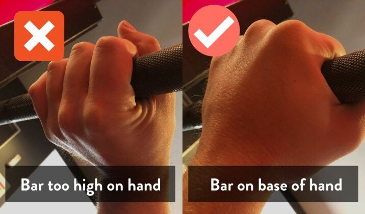 wrists straight when bench pressing